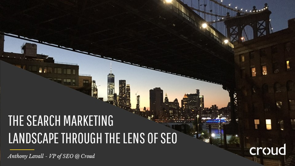 Search Marketing through the Lens of SEO 001