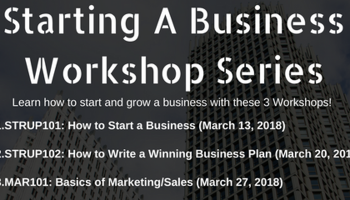"""Starting a Business"" Workshop Series"