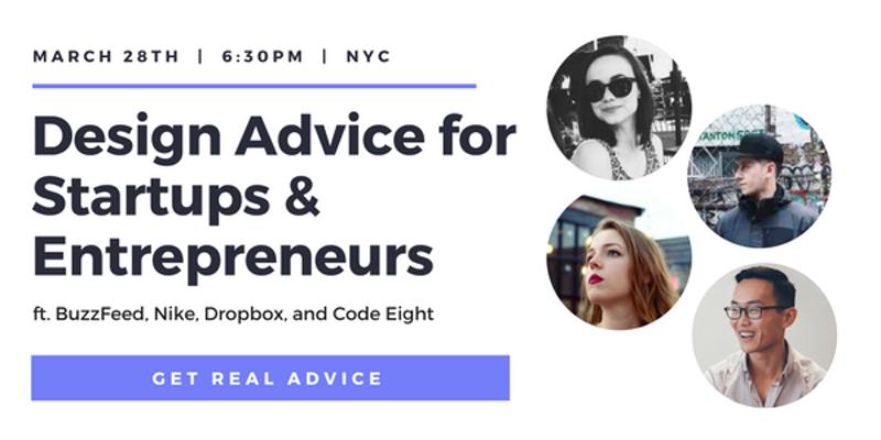 Design Advice for Startups & Entrepreneurs